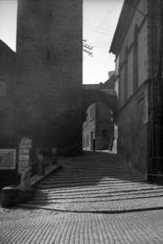 Wejście na ul. Rycerską od ul. Międzyleśnej, fot. Tadeusz Scelina (ok. 1950 r.)