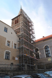 Baszta Rycerska w trakcie remontu