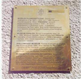 Miejska Trasa Turystyczna - tablica mosiężna na zabytkach