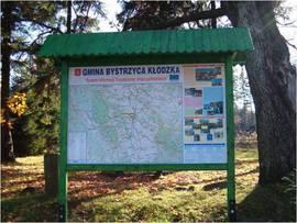 Tablica turystyczna - Gmina Bystrzyca Kłodzka