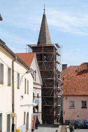 Baszta Rycerska przy ul. Rycerskiej w trakcie remontu