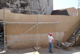 Brama Wodna przy ul. Podmiejskiej w trakcie remontu