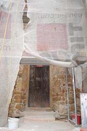 Baszta Rycerska przy ul.Rycerskiej w trakcie remontu