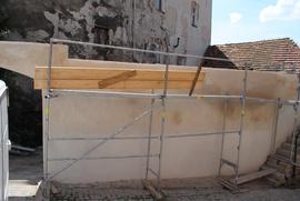 Brama Wodna przy ul.Podmiejskiej w trakcie remontu